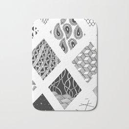 Diamond Zentangles Bath Mat