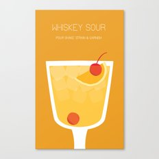 Whiskey Sour - Alcohol Canvas Print