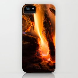 Fire in chimney iPhone Case