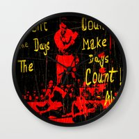 ali Wall Clocks featuring Ali by Maxim Garg