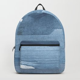 Gray Blue streaked wash drawing painting Backpack
