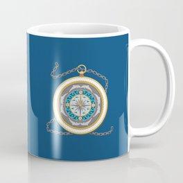 Fantasy Nautical Compass with Dolphins Coffee Mug