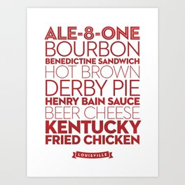 Louisville — Delicious City Prints Art Print