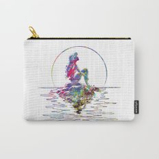 The Little Mermaid Ariel Silhouette Watercolor Carry-All Pouch