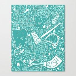 Happy Doodle Teeth Canvas Print