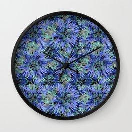Modern Nature Print Pattern Wall Clock
