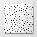 Polka Dot White Background by seafoam12