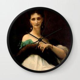 "Alexandre Cabanel ""La Comtesse De Keller (marquise de Saint Yves d'Alveydre)"" Wall Clock"