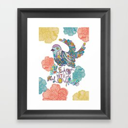Lead with Love Large Framed Art Print