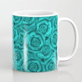 Bright turquoise roses Coffee Mug