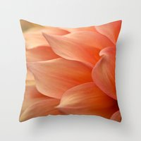 jewish Throw Pillows featuring Gentle Petals by Brown Eyed Lady