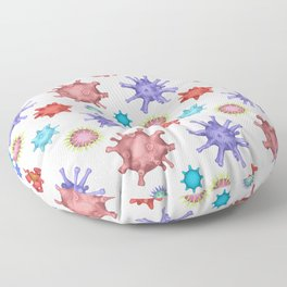 Different kinds of viruses (pattern) Floor Pillow
