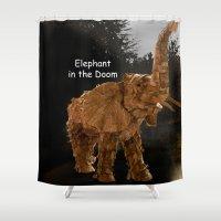 doom Shower Curtains featuring Elephant Doom by Fantelius/Dartwill