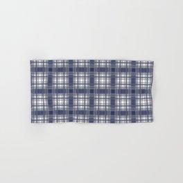 Navy Blue and Gray Plaid Hand & Bath Towel