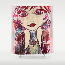 Be A Mermaid and Make Waves Shower Curtain