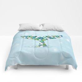 Mermaid Tail Blue Dreamy Sea Comforters