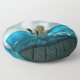 The lost Aquarium Floor Pillow