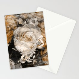 Tan Roses Stationery Cards