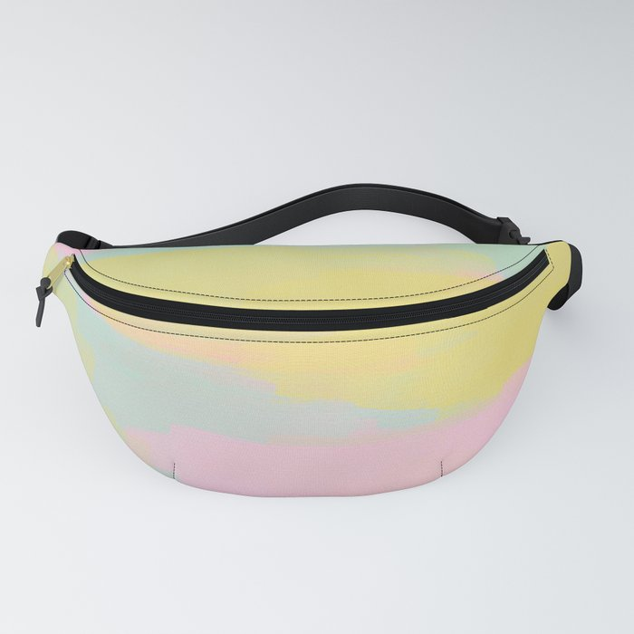 Abstract Pastel Watercolor Fanny Pack