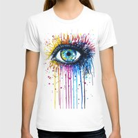 "hell T-shirts featuring ""Rainbow Eye"" by PeeGeeArts"