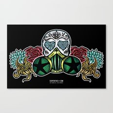Gasmask Sugar Skull Canvas Print