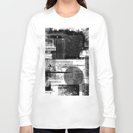 B&W Abstract One Long Sleeve T-shirt