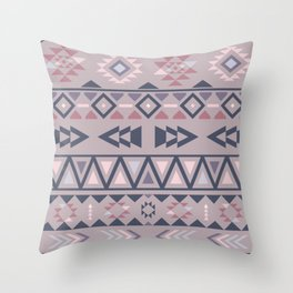 Southwestern mexican print purple color palette Throw Pillow