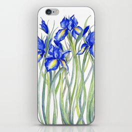 Blue Iris, Illustration iPhone Skin