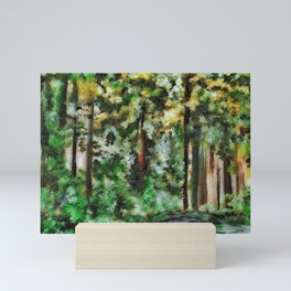 Abstract Landscape of a Forest Mini Art Print