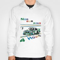 1975 Hoodies featuring 1975 BMW Victory at 4 Hours of Nürburgring by DailyTurismo