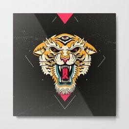 Tiger 3 Eyes Metal Print