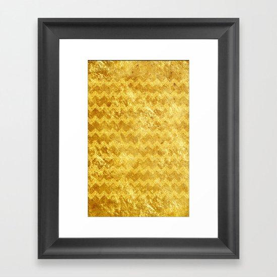 Gold Chevron - for iphone Framed Art Print