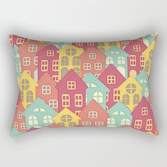 Houses on Hilltops Rectangular Pillow