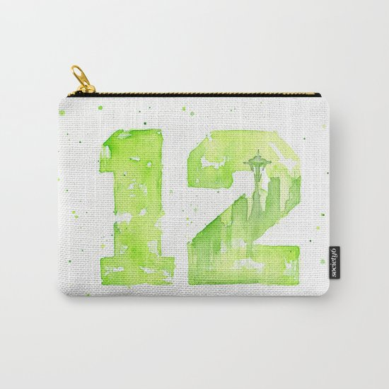 12th Man Seattle Art Carry-All Pouch