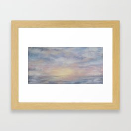 Clouded Sky Framed Art Print