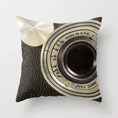 Vintage Argus camera Throw Pillow