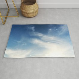 LOW ANGLE PHOTOGRAPHY BLUE AND WHITE SKY Rug
