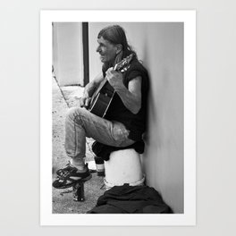 Homeless in St. Augustine Art Print