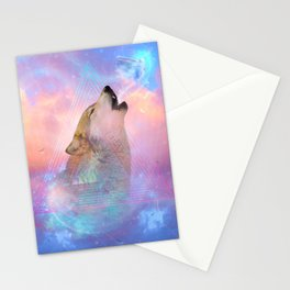 Dream By Day (Wolf Dreams - Remix Series) Stationery Cards
