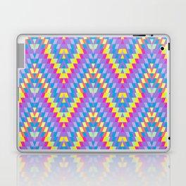 Turkish carpet pink blue lilac purple pink beige. Patchwork mosaic oriental kilim rug Laptop & iPad Skin