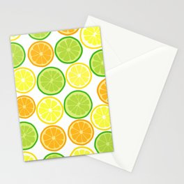 Citrus Slices on White Stationery Cards