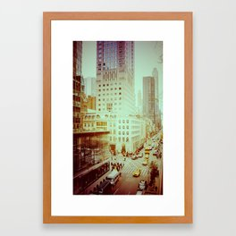 5th Avenue, New York: Vintage View Framed Art Print