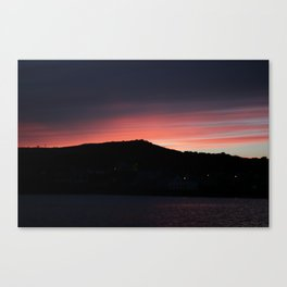 Pink Sky in Arthurstown Canvas Print