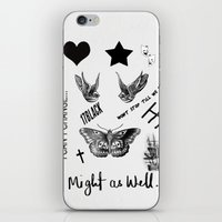 tattoos iPhone & iPod Skins featuring Tattoos by Alexbookpages