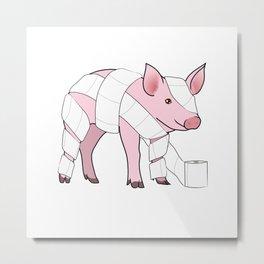 Piglet Metal Print