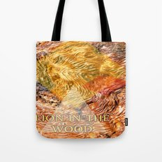 LION IN THE WOOD Tote Bag