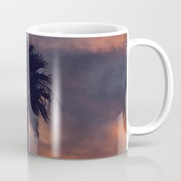 Palm Trees in Sunset on the Planet Jupiter Coffee Mug