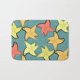 Seamless pattern with sea stars Bath Mat