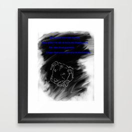 Pitbull Respect Framed Art Print