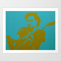 u2 Art Prints featuring Bono - U2 by Tipsy Monkey